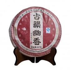 2015, Нежный аромат Старого чая, 357 г/блин, шу, ч/ф Гоянь