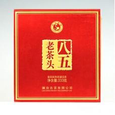2016 год, Лао Чатоу-85, шу пуэр, блин, ч/ф Ланьцан