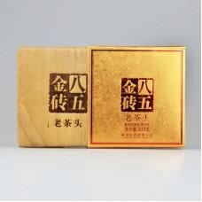 2013 год, Лао Чатоу-85, шу пуэр, кирпич, ч/ф Ланьцан