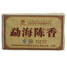 2008 год, Густой аромат Мэнхая, шу пуэр, кирпич, ч/ф Лунъюань Хао