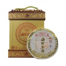2009 год, Золотой пух Мэнку, шу пуэр, коробка, ч/ф Мэнку Жунши