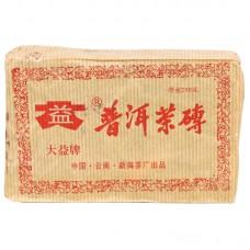 2003 год, Мэнхайский чай, шэн пуэр, кирпич, ч/ф Даи