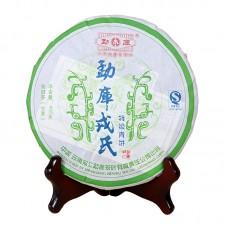 2007, Тэцзи. Особый сорт, 0,4 кг/блин, шэн, ч/ф Мэнку Жунши