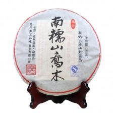 2011, Прямоствол Наньношаня, 0,38 кг/блин, шэн, ч/ф Суйюэ Чживэй