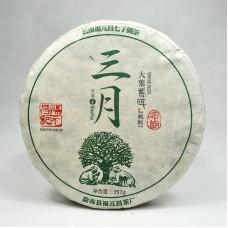 2016 год, Булан. Весенний чай, шэн пуэр, блин, ч/ф Фуюань Чан