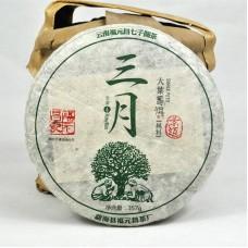 2016 год, Цзинмай. Весенний чай, шэн пуэр, блин, ч/ф Фуюань Чан
