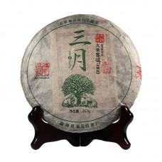 2015 год, Цзинмай. Весенний чай, шэн пуэр, блин, ч/ф Фуюань Чан