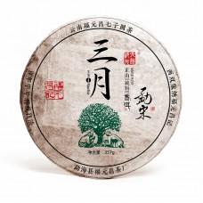 2017, Мэнсун. Высокогорный лист, 357 г/блин, шэн, ч/ф Фуюань Чан