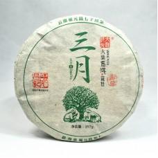 2016 год, Мэнсун. Весенний чай, шэн пуэр, блин, ч/ф Фуюань Чан