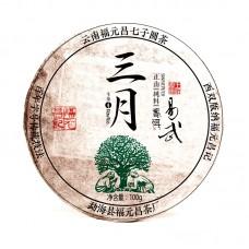 2017, Иу. Высокогорный лист, 100 г/блин, шэн, ч/ф Фуюань Чан