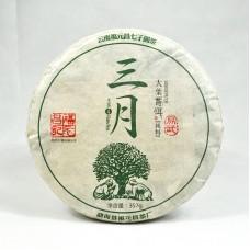 2016 год, Иу. Весенний чай, шэн пуэр, блин, ч/ф Фуюань Чан