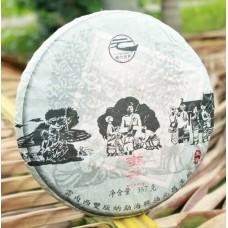 """2012 год, Маньчжуань, серия """"На Счастье"""", шэн пуэр, блин, ч/ф Фуюань Чан"""