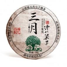 """2017, Чайный парк """"Хуачжу Лянцзы"""" (Мэнсун), 100 г/шт, шэн, ч/ф Фуюань Чан"""