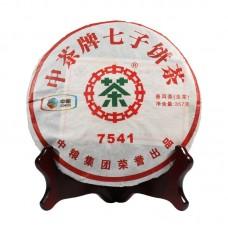 2011 год, 7541, шэн пуэр, блин, ч/ф Чжунча