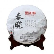 2017, Весенний Рассвет, 0,357 кг/блин, шэн, ч/ф Чжэнхао
