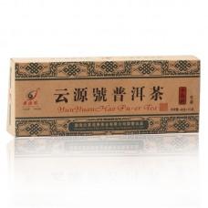 2012 год, Золотой Слиток, шэн пуэр, кирпич, ч/ф Юньюань Хао