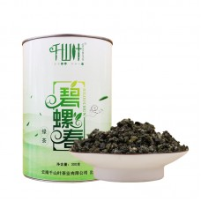 2017, Билочунь, 300 г/банка, зелёный чай, ч/ф Цяньшань Е
