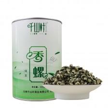 2017, Ароматные спирали, 300 г/банка, зелёный чай, ч/ф Цяньшань Е