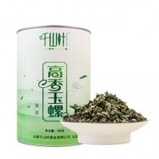 2017, Нефритовые спирали, 300 г/банка, зелёный чай, ч/ф Цяньшань Е