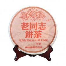 2004, Юньнань многоцветная, 0,357 кг/блин, шу, ч/ф Хайвань