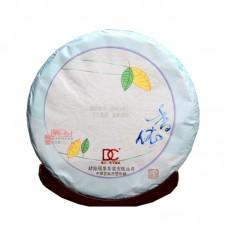 2014, Основа Чая (Весна, Цзинмайшань, древние дер-я), 0,357 кг/блин, шэн, ч/ф Дяньча