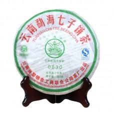 2008, 0830, 0,357 кг/блин, шэн, ч/ф Лимин
