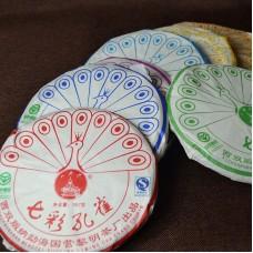 2007, Разноцветный Павлин, 0,357 кг/блин, шэн, ч/ф Лимин