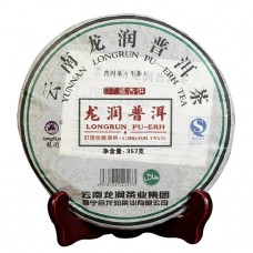 2007, Коллекционный аромат, 357 г/блин, шэн, ч/ф Лунжунь