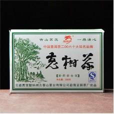 2007, Старые деревья, 0,25 кг/кирпич, шэн, ч/ф Лунъюань Хао