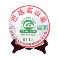 2011, 8113. Бадашань, 0,357 кг/блин, шэн, ч/ф Сягуань