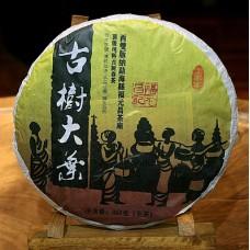 2012, дер. Динцзячжай, Иу, 357 г/блин, шэн, ч/ф Фуюань Чан