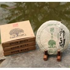 2013, Ранняя Весна Буланшаня, 100 г/блин, шэн, ч/ф Фуюань Чан