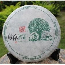 2012, Юлэ, Древние деревья, 200 г/блин, шэн, ч/ф Фуюань Чан