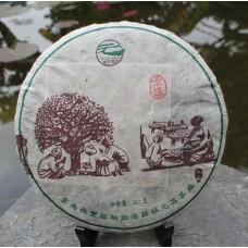 """2012, Цзинмай, серия """"На Счастье"""", 357 г/блин, шэн, ч/ф Фуюань Чан"""