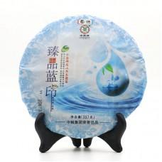 2015, Синяя печать, 357 г/блин, шэн, ч/ф Чжунча