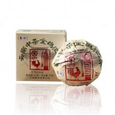 2018, Золотая курица, 95 г/точа, шэн, ч/ф Чжунча