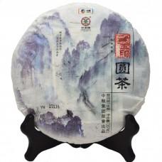 2014, Нефритовая печать, 357 г/блин, шэн, ч/ф Чжунча