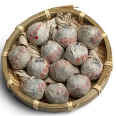 2014, Терпкий Лаоманьэ, 8 г/шт, шэн, ч/ф Шуцзянь Хао