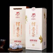 2017, Пуэр в мандарине, 100 г/коробка, шу, ч/ф Лунъюань Хао