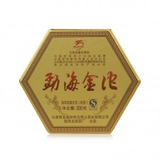 2014, Золотые точи Мэнхая, 300 г/банка, шу, ч/ф Лунъюань Хао