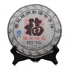 2016, Чай Счастья, 357 г/блин, шу, ч/ф Чэньшэн Хао