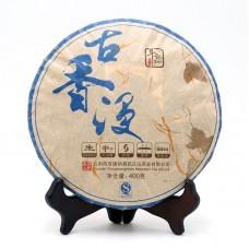 2016, Погружение в аромат Древности, 400 г/блин, шэн, ч/ф Доуцзи