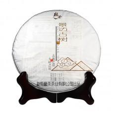 2016, Цзинмайшань, древние деревья, 357 г/блин, шэн, ч/ф Дяньча