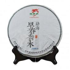 2015, Весенний прямоствол, 357 г/блин, шэн, ч/ф Лунъюань Хао