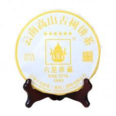 2017, Шесть Звёзд Баньчжана, 357 г/блин, шэн, ч/ф Сягуань