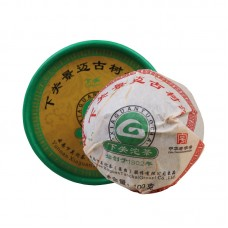 2012, Древние деревья Цзинмайшаня, 100 г/точа, шэн, ч/ф Сягуань