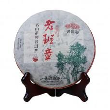 2017, Миншань. Лаобаньчжан, 500 г/блин, шэн, ч/ф Хайвань