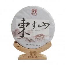 2015, Дунбаньшань (весна), 357 г/блин, шэн, ч/ф Цайнун