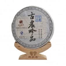 2012, Древний чай из дер. Манлу, 357 г/блин, шэн, ч/ф Цайнун