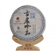 2013, Древний чай из дер. Манлу (весна), 357 г/блин, шэн, ч/ф Цайнун